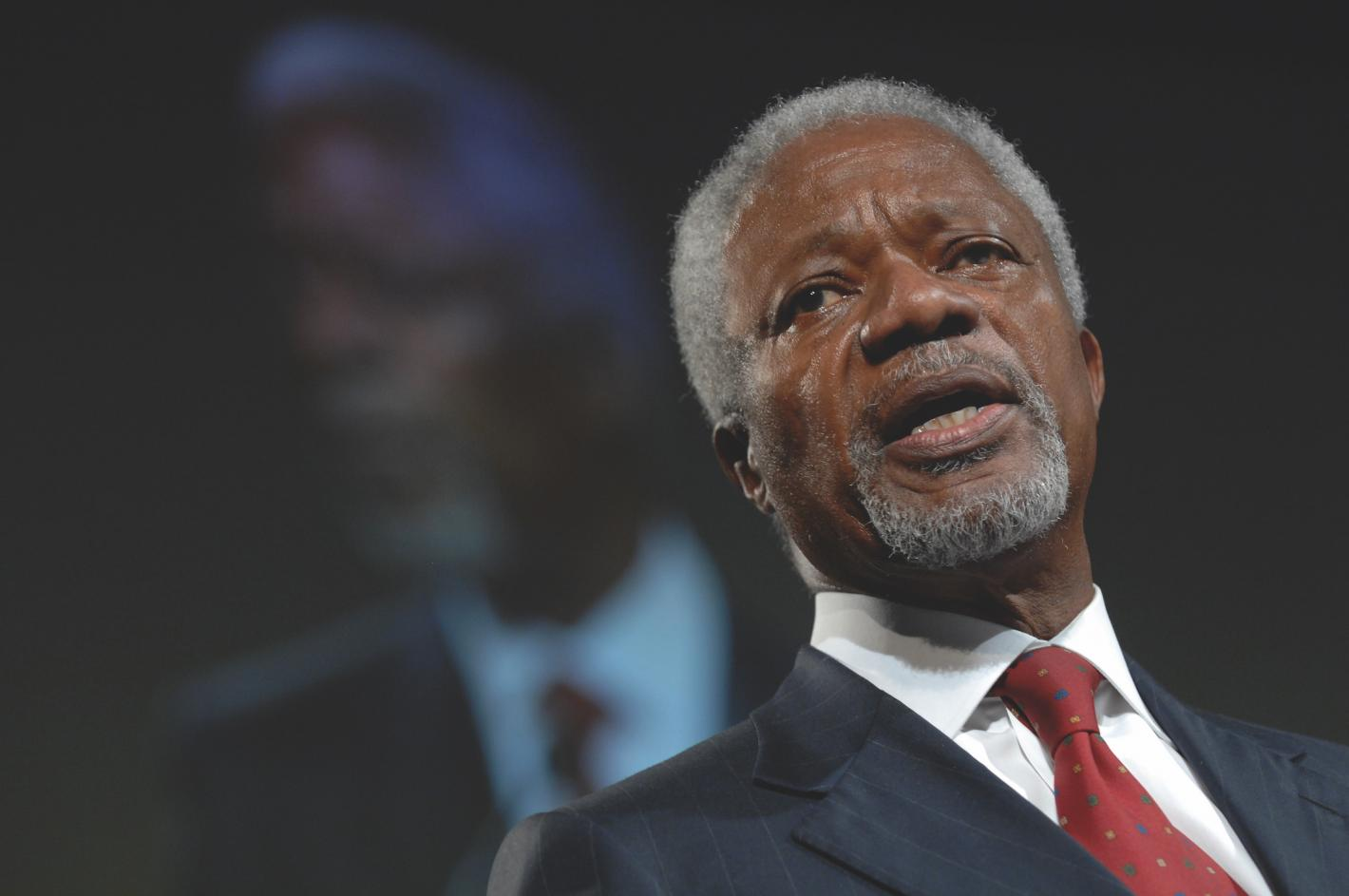 Kofi Annan, former Secretary General of the United Nations